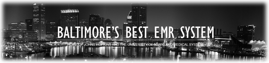 Image of Downtown Baltimore with Baltimore's Best EMR System